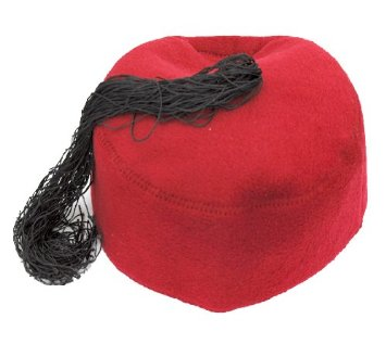 Red Tunisian Chechia made by wool