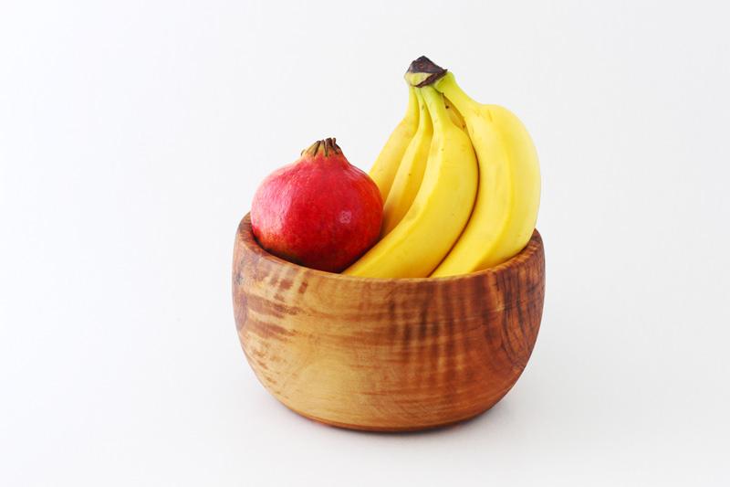 Saladier, Bol de fruit en bois d'olivier